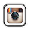 instagram social media button