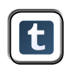 tumblr social media button