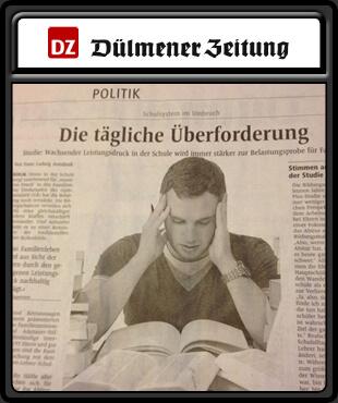 Dülmener Tagezeitung 310 x370 f. Stock
