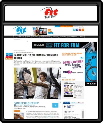 fitness foto auf fitforfun von fotograf aus klagenfurt aufgenommen im 4p fitnesscenter in kärnten