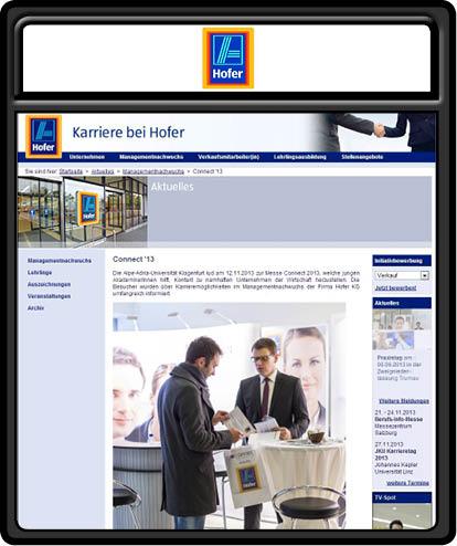 mein foto auf der webseite von hofer