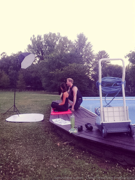 making of vom Fitness Foto Shooting