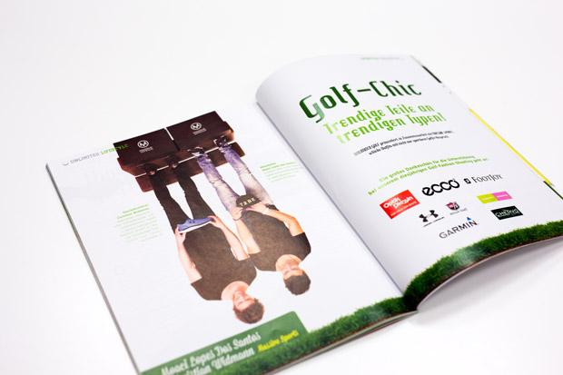 Foto von Massive Sport Geschäfsführer Christian Widmann mit Moaci Dos Santos im Unlimited Golf Magazin mit Fashion Mode Fotostrecke von Fotograf Daniel Waschnig aus Klagenfurt, Villach, Kärnten