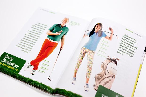 Fotos von Karin Pilgrammer und Georg Strebenitzer von Top-Cup im Unlimited Golf Magazin mit Fashion Mode Fotostrecke von Fotograf Daniel Waschnig aus Klagenfurt, Villach, Kärnten