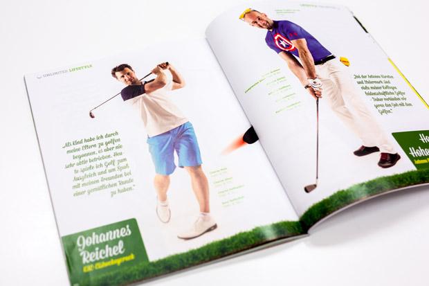 Fotos von Johannes Reichel und Herbert Hohenberger im Unlimited Golf Magazin mit Fashion Mode Fotostrecke von Fotograf Daniel Waschnig aus Klagenfurt, Villach, Kärnten