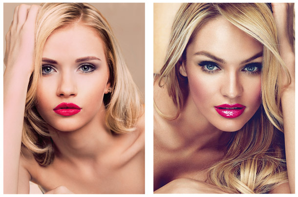 Intercoiffeur Martina Glaser Vergleichs Foto Styling wie Supermodel Candice Swandepeol aus Südafrika