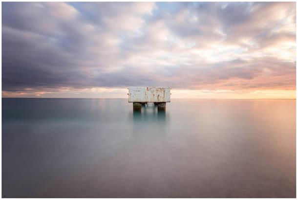 Landschaftsfoto aufgenommen am Strand von Nizza mit einer Langzeitbelichtung von Fotografen aus Kärnten, Österreich