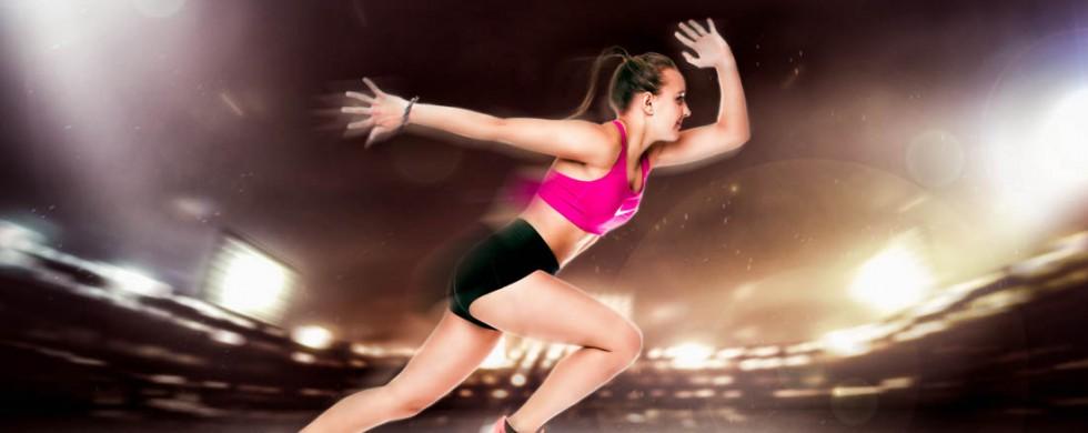leichtathletik athletin sportlerin im fotostudio shooting