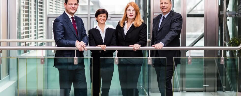 Rektoratsteam der Universität Klagenfurt in Kärnten - Oliver Vitouch, Doris Hattenberger, Friederike Wall, Martin Hitz