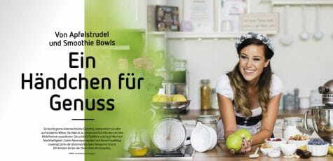 Behind-the-Scenes / Making-Of beim Kelag Cover Fotoshooting mit CookingCatrin