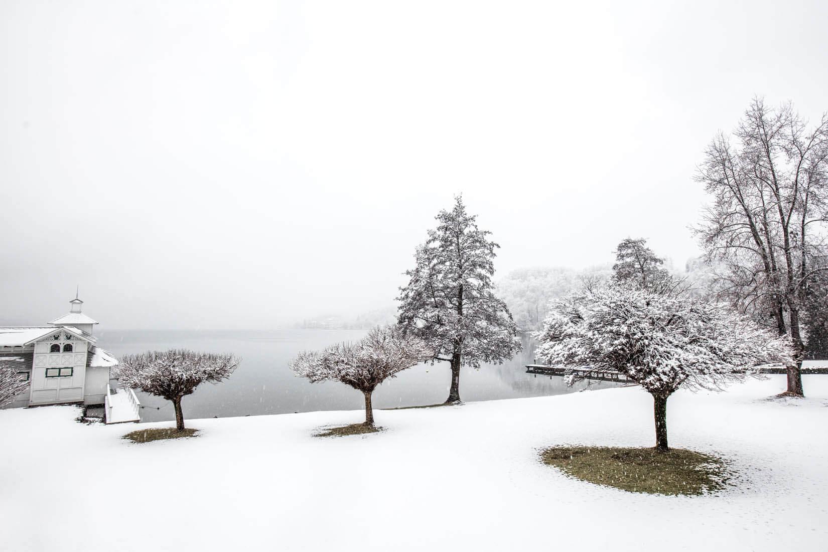 Wintertourismus Fotografie bei Pörtschach am Wörthersee, Kärnten