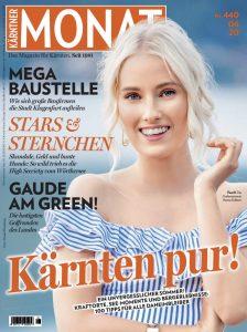 Verena Kollienz fotografiert für das Cover des Kärntner Monats - Fotografiert in Krumpendorf am Wörthersee in Kärnten